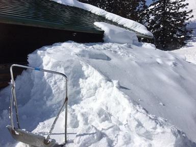 くっ付いた雪
